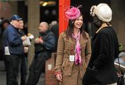 14 March 2012; Racegoers in attendance during Ladies Day at the Cheltenham Festival. Cheltenham Racing Festival, Prestbury Park, Cheltenham, England. Picture credit: Brendan Moran / SPORTSFILE