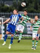 13 July 2017; Ronan Finn of Shamrock Rovers in action against Petr Mares of Mlada Boleslav during the UEFA Europa League Second Qualifying Round First Leg match between Shamrock Rovers and Mlada Boleslav at Tallaght Stadium in Tallaght, Co Dublin. Photo by David Maher/Sportsfile