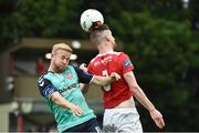 14 July 2017; Ian Bermingham of St Patrick's Athletic in action against Nicky Low of Derry City during the SSE Airtricity League Premier Division match between St Patrick's Athletic and Derry City at Richmond Park in Dublin. Photo by David Maher/Sportsfile