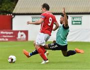14 July 2017; Christy Fagan of St Patrick's Athletic in action against Darren Cole of Derry City during the SSE Airtricity League Premier Division match between St Patrick's Athletic and Derry City at Richmond Park in Dublin. Photo by David Maher/Sportsfile