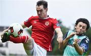 14 July 2017; Michael Barker of St Patrick's Athletic in action against Barry McNamee of Derry City during the SSE Airtricity League Premier Division match between St Patrick's Athletic and Derry City at Richmond Park in Dublin. Photo by David Maher/Sportsfile