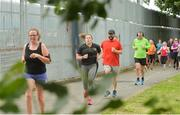 15 July 2017; parkrun Ireland in partnership with Vhi, added their 65th event on Saturday, July 15th, with the introduction of the Fairview parkrun. parkruns take place over a 5km course weekly, are free to enter and are open to all ages and abilities, providing a fun and safe environment to enjoy exercise. To register for a parkrun near you visit www.parkrun.ie. New registrants should select their chosen event as their home location. You will then receive a personal barcode which acts as your free entry to any parkrun event worldwide. Pictured are runners during the Fairview parkrun. Photo by Piaras Ó Mídheach/Sportsfile