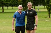 15 July 2017; parkrun Ireland in partnership with Vhi, added their 65th event on Saturday, July 15th, with the introduction of the Fairview parkrun. parkruns take place over a 5km course weekly, are free to enter and are open to all ages and abilities, providing a fun and safe environment to enjoy exercise. To register for a parkrun near you visit www.parkrun.ie. New registrants should select their chosen event as their home location. You will then receive a personal barcode which acts as your free entry to any parkrun event worldwide. Pictured are John McCormack, left, from Ashbourne, and Louis Lillane, Defence Forces. Photo by Piaras Ó Mídheach/Sportsfile