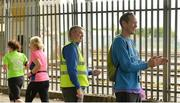 15 July 2017; parkrun Ireland in partnership with Vhi, added their 65th event on Saturday, July 15th, with the introduction of the Fairview parkrun. parkruns take place over a 5km course weekly, are free to enter and are open to all ages and abilities, providing a fun and safe environment to enjoy exercise. To register for a parkrun near you visit www.parkrun.ie. New registrants should select their chosen event as their home location. You will then receive a personal barcode which acts as your free entry to any parkrun event worldwide. Pictured are volunteers during the Fairview parkrun. Photo by Piaras Ó Mídheach/Sportsfile