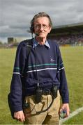 15 July 2017; Former RTE sports floor manager Tadhg de Brún before the GAA Football All-Ireland Senior Championship Round 3B match between Carlow and Monaghan at Netwatch Cullen Park in Carlow. Photo by David Maher/Sportsfile