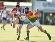 15 July 2017; Owen Duffy of Monaghan in action against Sean Murphy of Carlow during the GAA Football All-Ireland Senior Championship Round 3B match between Carlow and Monaghan at Netwatch Cullen Park in Carlow. Photo by David Maher/Sportsfile
