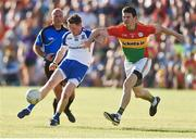 15 July 2017; Conor McManus of Monaghan in action against Conor Lawlor of Carlow during the GAA Football All-Ireland Senior Championship Round 3B match between Carlow and Monaghan at Netwatch Cullen Park in Carlow. Photo by David Maher/Sportsfile