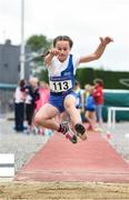 15 July 2017; Ciara Goode of Tullamore Harriers A.C., Co. Offaly, competing in the U12 Girl's Long Jump event during the AAI Juvenile B Championships & Juvenile Relays in Tullamore, Co Offaly. Photo by Barry Cregg/Sportsfile