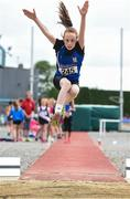 15 July 2017; Lucy Brennan of St. Peter's A.C., Co.Armagh, competing in the U12 Girl's Long Jump event during the AAI Juvenile B Championships & Juvenile Relays in Tullamore, Co Offaly. Photo by Barry Cregg/Sportsfile