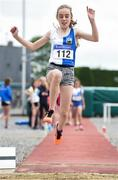 15 July 2017; Amy McGreal of Tullamore Harriers A.C., Co. Offaly, competing in the U12 Girl's Long Jump event during the AAI Juvenile B Championships & Juvenile Relays in Tullamore, Co Offaly. Photo by Barry Cregg/Sportsfile