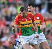 15 July 2017; Gary Kelly of Carlow celebrates after scoring his side's first goal during the GAA Football All-Ireland Senior Championship Round 3B match between Carlow and Monaghan at Netwatch Cullen Park in Carlow. Photo by David Maher/Sportsfile