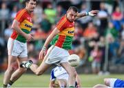 15 July 2017; Gary Kelly of Carlow scores his side's first goal during the GAA Football All-Ireland Senior Championship Round 3B match between Carlow and Monaghan at Netwatch Cullen Park in Carlow. Photo by David Maher/Sportsfile