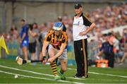 8 July 2017; Kilkenny manager Brian Cody watches as TJ Reid of Kilkenny takes a sideline cut during the GAA Hurling All-Ireland Senior Championship Round 2 match between Waterford and Kilkenny at Semple Stadium in Thurles, Co Tipperary. Photo by Brendan Moran/Sportsfile