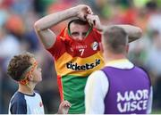 15 July 2017; A disapointed Gary Kelly of Carlow at the end of the GAA Football All-Ireland Senior Championship Round 3B match between Carlow and Monaghan at Netwatch Cullen Park in Carlow. Photo by David Maher/Sportsfile
