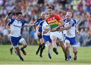 15 July 2017; Brendan Murphy of Carlow in action against Shane Carey, left and Gavin Doogan of Monaghan during the GAA Football All-Ireland Senior Championship Round 3B match between Carlow and Monaghan at Netwatch Cullen Park in Carlow. Photo by David Maher/Sportsfile