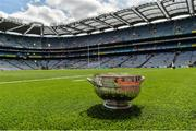 16 July 2017; A general view of The Delaney Cup before the Leinster GAA Football Senior Championship Final match between Dublin and Kildare at Croke Park in Dublin. Photo by Piaras Ó Mídheach/Sportsfile