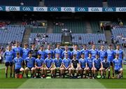 16 July 2017; Dublin squad before the Electric Ireland Leinster GAA Football Minor Championship Final match between Dublin and Louth at Croke Park in Dublin. Photo by Ray McManus/Sportsfile