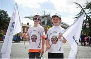 16 July 2017; Kildare supporters, Patrick O'Shea, left, aged 9, and Greg O'Shea, right, aged 7, from Castledermot, Co. Kildare, ahead of the Leinster GAA Football Senior Championship Final match between Dublin and Kildare at Croke Park in Dublin. Photo by Seb Daly/Sportsfile