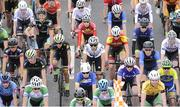16 July 2017; A general view of the peloton during Stage 6 of the Scott Junior Tour 2017 in Ennis, Co Clare. Photo by Stephen McMahon/Sportsfile