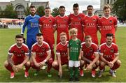 16 July 2017; The Cork City team ahead of the SSE Airtricity League Premier Division match between Bray Wanderers and Cork City at the Carlisle Grounds in Bray, Co. Wicklow. Photo by David Maher/Sportsfile