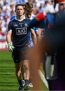 16 July 2017; Dublin captain Stephen Cluxton who made today made his 88th Senior Championship appearance, equalising the all-time record with Tomás Ó Sé and Marc Ó Sé of Kerry marches behind the Artane band ahead of the Leinster GAA Football Senior Championship Final match between Dublin and Kildare at Croke Park in Dublin. Photo by Ray McManus/Sportsfile