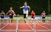 16 July 2017; Jack Mitchell, St. Laurence O'Toole AC, Co.Carlow, on his way to winning the Boy's Under18 400m Hurdles event, during the AAI Juvenile Championships Day 3 in Tullamore, Co Offaly. Photo by Tomás Greally/Sportsfile