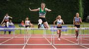 16 July 2017; Niamh Malone, Monaghan Phoenix AC, on her way to winning the Girl's Under19 400m Hurdles event, during the AAI Juvenile Championships Day 3 in Tullamore, Co Offaly. Photo by Tomás Greally/Sportsfile *** NO REPRODUCTION FEE ***