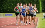 16 July 2017; Eventual winner James Maguire, right 351, Dundrum South Dublin AC, leads the field on his way to winning the Boy's Under18 1500m event, during the AAI Juvenile Championships Day 3 in Tullamore, Co Offaly. Photo by Tomás Greally/Sportsfile