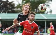 16 July 2017; Sean Maguire of Cork City in action against Hugh Douglas of Bray Wanderers during the SSE Airtricity League Premier Division match between Bray Wanderers and Cork City at the Carlisle Grounds in Bray, Co. Wicklow. Photo by David Maher/Sportsfile