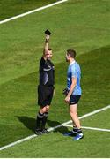 16 July 2017; Dean Rock of Dublin is shown a black card by referee Anthony Nolan during the Leinster GAA Football Senior Championship Final match between Dublin and Kildare at Croke Park in Dublin. Photo by Seb Daly/Sportsfile