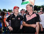 16 July 2017; Tyrone manager Mickey Harte after the Ulster GAA Football Senior Championship Final match between Tyrone and Down at St Tiernach's Park in Clones, Co. Monaghan. Photo by Oliver McVeigh/Sportsfile