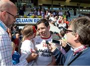 16 July 2017; Sean Cavanagh of Tyrone is interviewed after the Ulster GAA Football Senior Championship Final match between Tyrone and Down at St Tiernach's Park in Clones, Co. Monaghan. Photo by Oliver McVeigh/Sportsfile