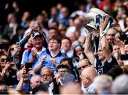 16 July 2017; Captain of Dublin, Stephen Cluxton, lifts The Delaney Cup following the Leinster GAA Football Senior Championship Final match between Dublin and Kildare at Croke Park in Dublin. Photo by Seb Daly/Sportsfile