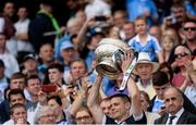 16 July 2017; Dublin captain Stephen Cluxton lifts The Delaney Cup after the Leinster GAA Football Senior Championship Final match between Dublin and Kildare at Croke Park in Dublin. Photo by Piaras Ó Mídheach/Sportsfile