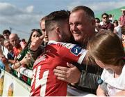 16 July 2017; Sean Maguire of Cork City with supporters for his last appearance for Cork City during SSE Airtricity League Premier Division match between Bray Wanderers and Cork City at the Carlisle Grounds in Bray, Co. Wicklow. Photo by David Maher/Sportsfile