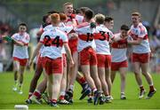 16 July 2017; The Derry players celebrate after the Electric Ireland Ulster GAA Football Minor Championship Final match between Cavan and Derry at St Tiernach's Park in Clones, Co. Monaghan. Photo by Oliver McVeigh/Sportsfile