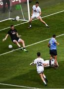 16 July 2017; James McCarthy of Dublin shoots to score his side's second goal of the game during the Leinster GAA Football Senior Championship Final match between Dublin and Kildare at Croke Park in Dublin. Photo by Seb Daly/Sportsfile