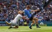 16 July 2017; Con O'Callaghan of Dublin is tackled by Keith Cribbin of Kildare during the Leinster GAA Football Senior Championship Final match between Dublin and Kildare at Croke Park in Dublin. Photo by Ray McManus/Sportsfile