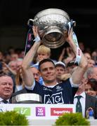 16 July 2017; The Dublin captain Stephen Cluxton lifts the Delaney Cup after the Leinster GAA Football Senior Championship Final match between Dublin and Kildare at Croke Park in Dublin. Photo by Ray McManus/Sportsfile