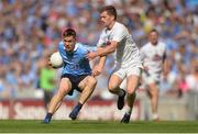 16 July 2017; Con O'Callaghan of Dublin in action against Niall Kelly of Kildare during the Leinster GAA Football Senior Championship Final match between Dublin and Kildare at Croke Park in Dublin. Photo by Piaras Ó Mídheach/Sportsfile