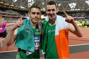 16 July 2017; Jason Smyth, left, and Michael McKillop of Ireland Gold Medal Winners during the 2017 Para Athletics World Championships at the Olympic Stadium in London. Photo by Luc Percival/Sportsfile