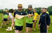 17 July 2017; Conor Boyle of Ballycastle  and Scott Walsh from Cushendal GAA club and  Antrim Celtic Challenge Squad members at a personal training session with former Tipperary star and Director of Munster, Bank of Ireland Liam Sheedy. Antrim were one of the six counties to emerge as winners in the Bank of Ireland Celtic Challenge finals. Antrim defeated North Cork in last month's finals, played at Netwatch Cullen Park, Carlow. The Bank of Ireland Celtic Challenge is a 32 county hurling development competition for 16 and 17 year old participants. Over 14000 players from around the country took part in the 2017 competition. Photo by Oliver McVeigh/Sportsfile