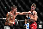 16 July 2017; Jack Marshman in action against Ryan Janes during their middleweight bout at UFC Fight Night Glasgow in the SSE Hydro Arena in Glasgow. Photo by Ramsey Cardy/Sportsfile