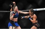 16 July 2017; Joanne Calderwood, left, in action against Cynthia Calvillo during their strawweight bout at UFC Fight Night Glasgow in the SSE Hydro Arena in Glasgow. Photo by Ramsey Cardy/Sportsfile