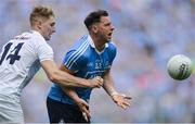 16 July 2017; Philip McMahon of Dublin in action against Daniel Flynn of Kildare during the Leinster GAA Football Senior Championship Final match between Dublin and Kildare at Croke Park in Dublin. Photo by Piaras Ó Mídheach/Sportsfile