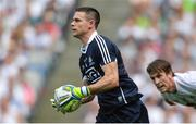 16 July 2017; Stephen Cluxton of Dublin gets past Paddy Brophy of Kildare during the Leinster GAA Football Senior Championship Final match between Dublin and Kildare at Croke Park in Dublin. Photo by Piaras Ó Mídheach/Sportsfile