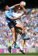16 July 2017; Kevin Feely of Kildare in action against Niall Scully of Dublin during the Leinster GAA Football Senior Championship Final match between Dublin and Kildare at Croke Park in Dublin. Photo by Piaras Ó Mídheach/Sportsfile