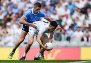 16 July 2017; Mick O'Grady of Kildare in action against Paul Mannion of Dublin during the Leinster GAA Football Senior Championship Final match between Dublin and Kildare at Croke Park in Dublin. Photo by Piaras Ó Mídheach/Sportsfile