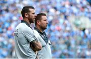 16 July 2017; Kildare manager Cian O'Neill, right, with selector Ronan Sweeney during the Leinster GAA Football Senior Championship Final match between Dublin and Kildare at Croke Park in Dublin. Photo by Piaras Ó Mídheach/Sportsfile