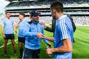 16 July 2017; Dublin manager Jim Gavin and Niall Scully after the Leinster GAA Football Senior Championship Final match between Dublin and Kildare at Croke Park in Dublin. Photo by Piaras Ó Mídheach/Sportsfile